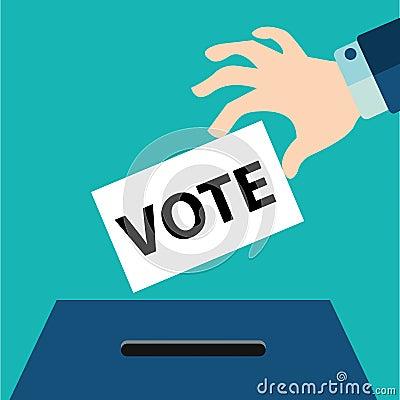 Vote Ballot With Box Vector Illustration Stock Vector