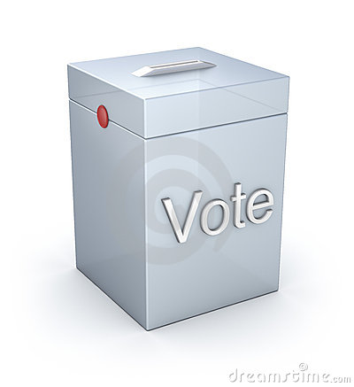 Vote box isolated