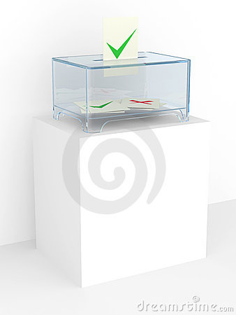 Vote box in a referendum