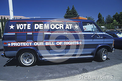Vote Democrat - Protect our Bill of Rights sign Editorial Photo