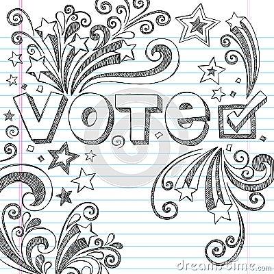 Free Vote Election Sketchy School Doodles Vector Illust Stock Image - 27039401