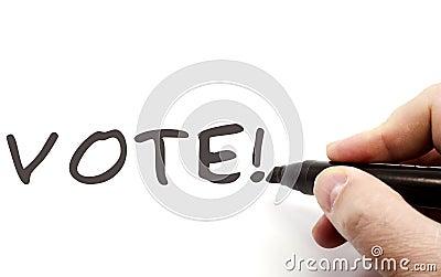Vote! Hand Writing