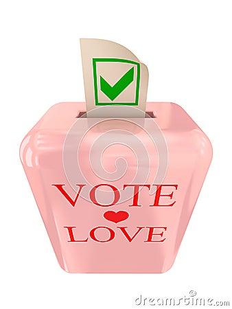 Vote Love concept.