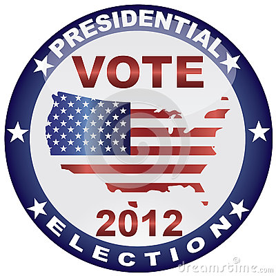 Vote Presidential Election 2012 Button