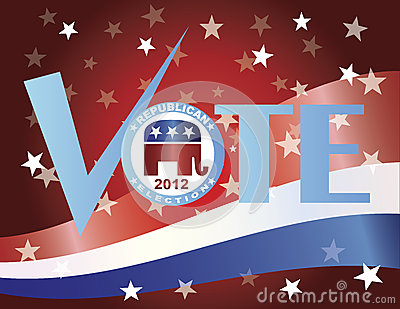 Vote Republican 2012 with US Flag Editorial Image