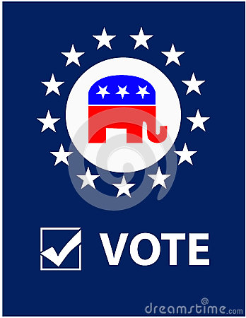 Vote Republican Placard Editorial Image
