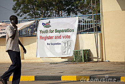 Vote for separation, southern sudan Editorial Image
