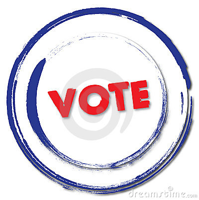 Free Vote Stamp Royalty Free Stock Photography - 8209777