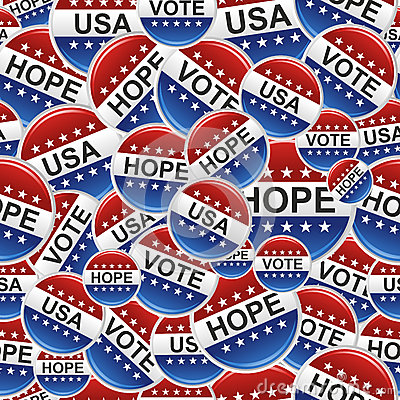 Vote USA badge pins pattern