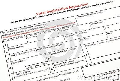 Voter Registration Form Image Image 17878111 – Voter Registration Form