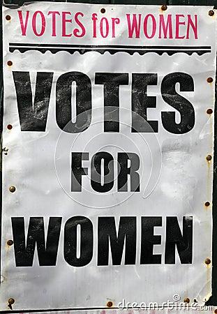 Free Votes For Women Poster Stock Photos - 13636273