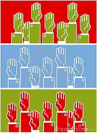 Voting group of people