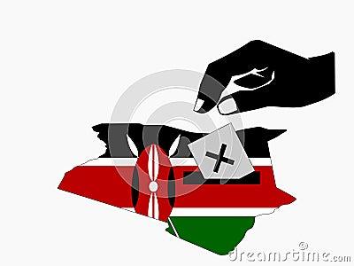 Voting in Kenyan election