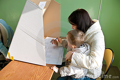 Voting in local elections in Poland Editorial Stock Image