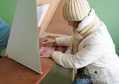 Voting in second round - local elections in Poland Editorial Photo