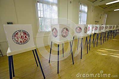 Voting stands for Congressional election Editorial Photo