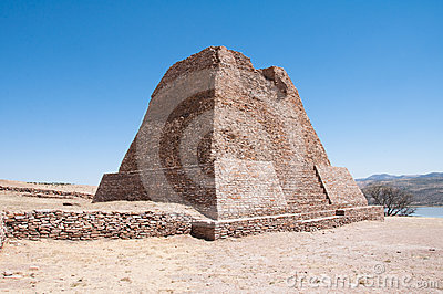 Votiva pyramid, La Quemada (Mexico)