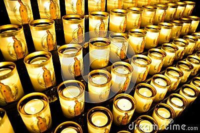 Votive candles at Notre Dame