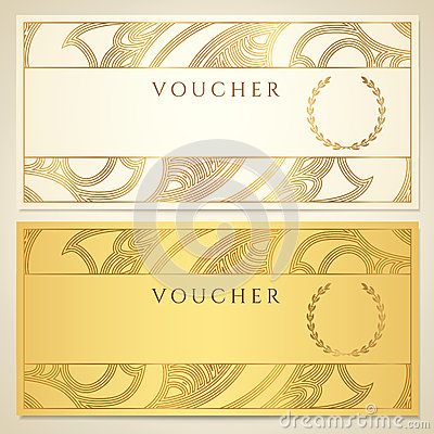 Free Voucher, Gift Certificate, Coupon Template. Stock Photography - 33252942