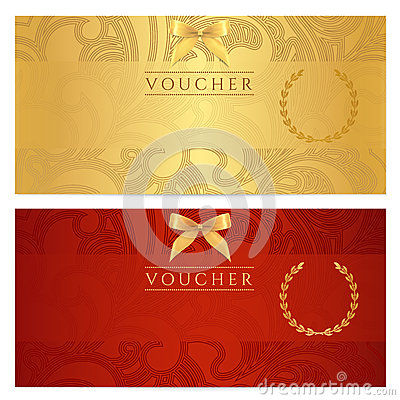 Free Voucher, Gift Certificate, Coupon, Ticket. Pattern Royalty Free Stock Image - 34060526