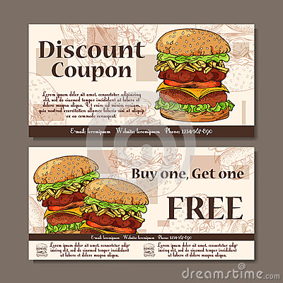 Voucher Template Design Modern Style For Cafe Restaurant Coupon – Restaurant Coupon Template