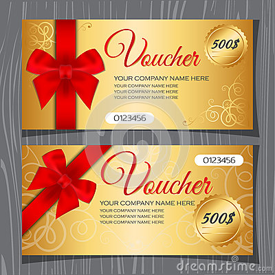 Free Voucher Template, Gift Certificate Stock Image - 57066271