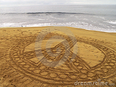Vrede op het strand