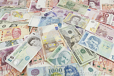 Vreemde valutabankbiljet Redactionele Stock Afbeelding