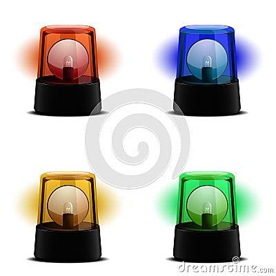 Várias luzes de piscamento