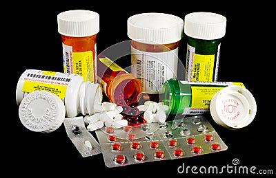 Vários medicinas e narcóticos