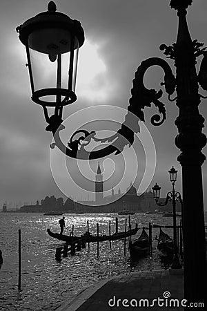 Vroege ochtend in Venetië.