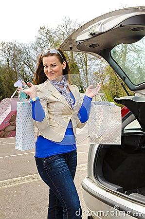 Vrouw en auto