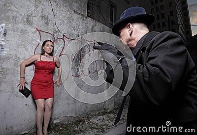 Vrouw in gevaar
