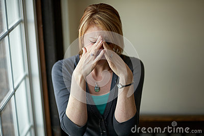 Vrouw met spanning