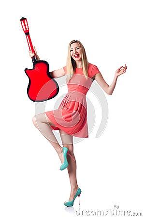 Vrouwelijke gitaar