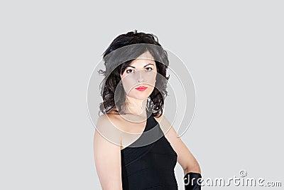 Vrouwelijke starende blik