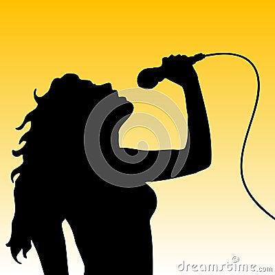 Vrouwelijke zanger