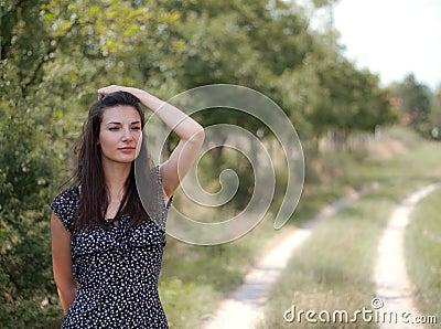 Vrouwen die bij de Horizon staren