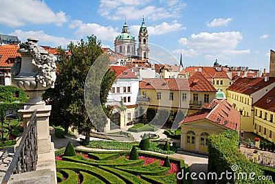 In the Vrtba garden in Prague