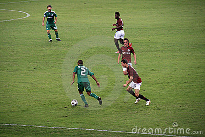 Vs futbolowi panathinaikos Sparta Obraz Stock Editorial