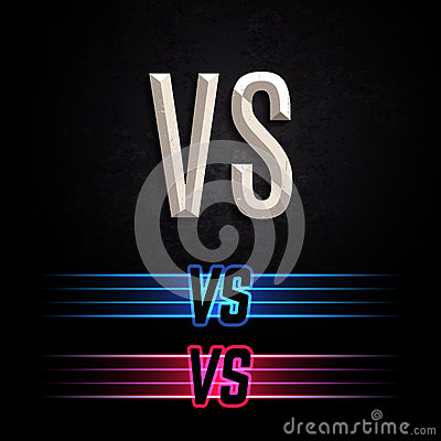 Free VS Vector Letters Illustration Royalty Free Stock Photo - 59315945