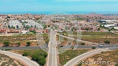 Vue aérienne Échange routier, Espagne clips vidéos