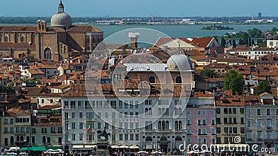 Vue aérienne d'architecture étonnante à Venise, attractions et tourisme, voyage banque de vidéos