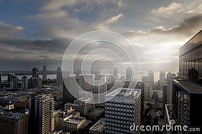 Vue aérienne de San Diego