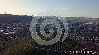 Vue aérienne de Stuttgart, Untertuerkheim avec l'usine Mercedes Benz banque de vidéos