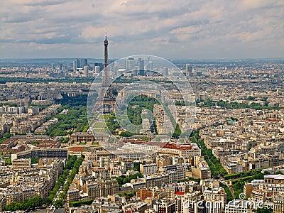 Vue a rienne de ville de paris de tour de montparnasse for Piscine montparnasse