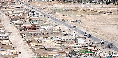 Vue aérienne de Kaboul