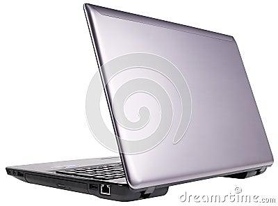 Vue arrière d ordinateur portatif