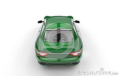 vue au dessus de voiture verte rapide illustration stock image 59003579. Black Bedroom Furniture Sets. Home Design Ideas