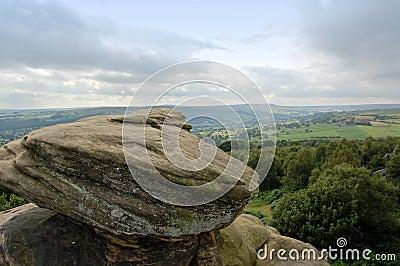 Vue au-dessus des vallées de Brimham R